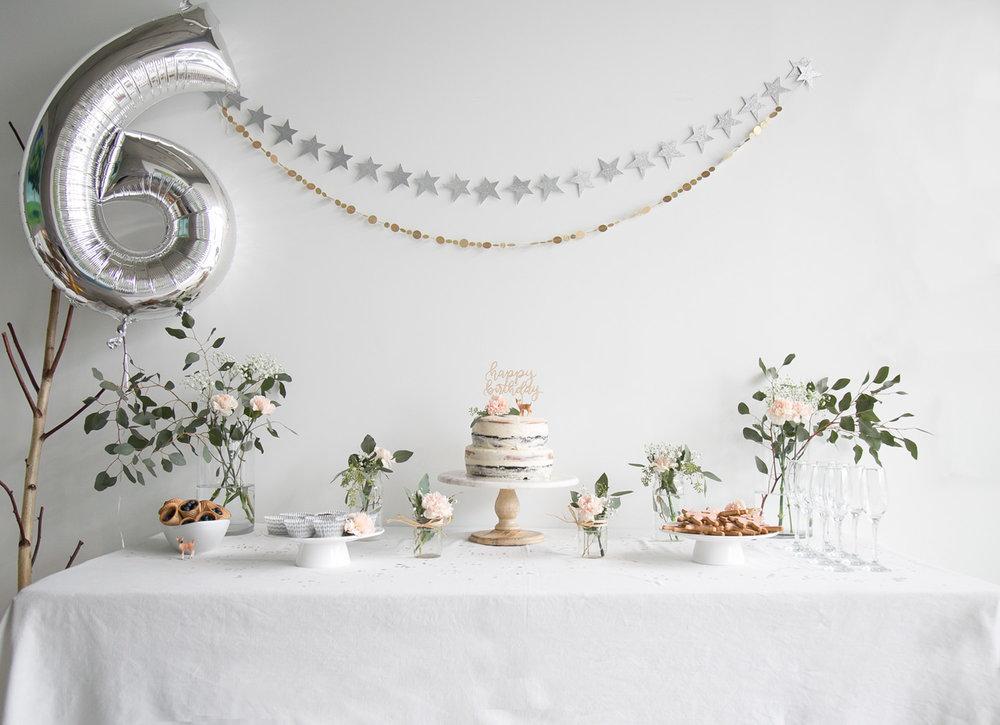 6th birthday dessert table