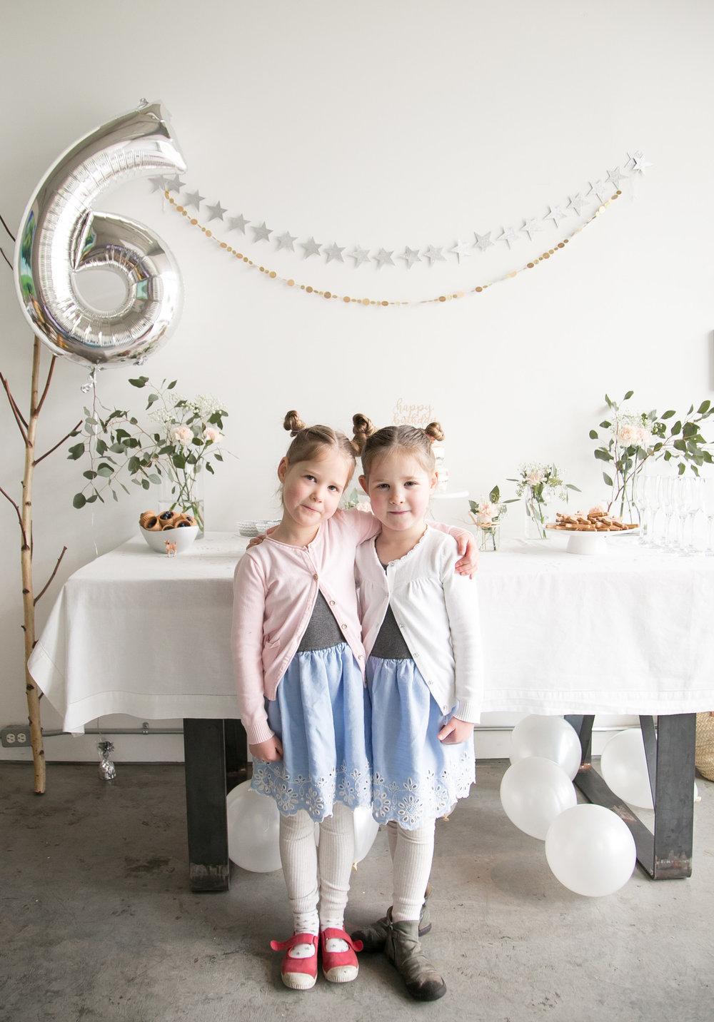 girls on their 6th birthday