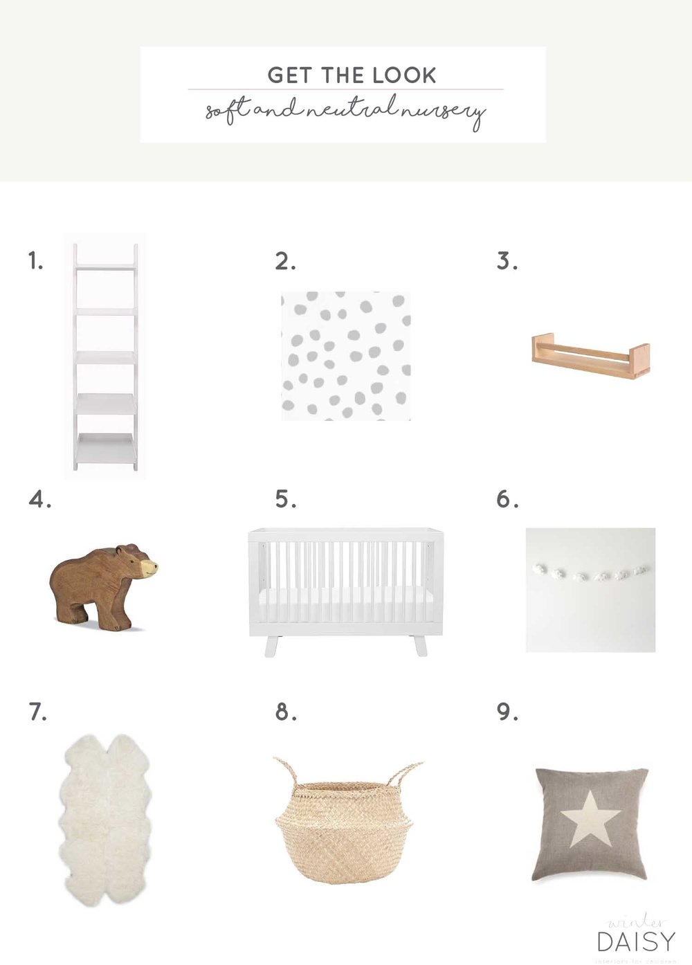 Design board for a neutral nursery