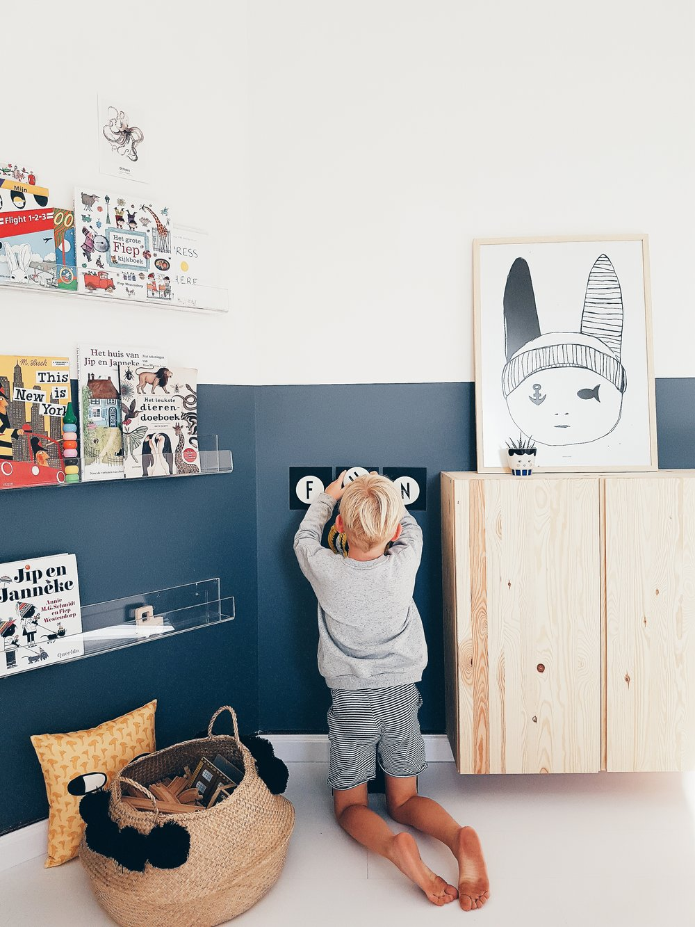 fun and playful boys room