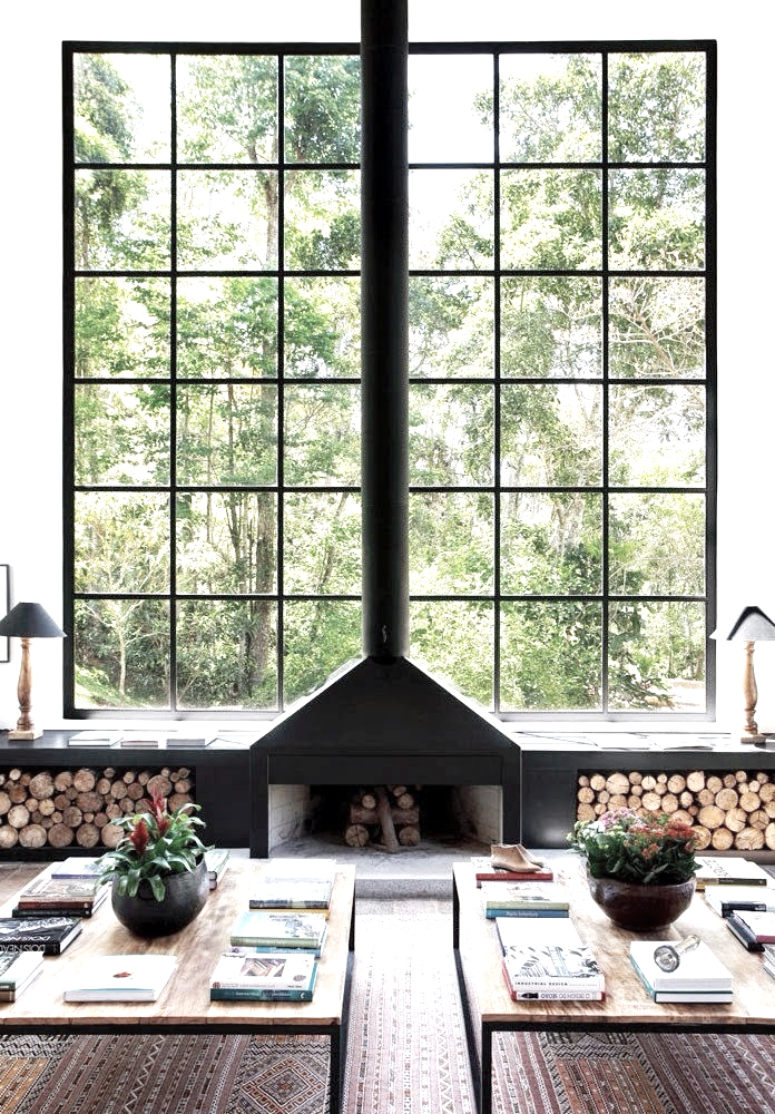 dreamy cabin windows