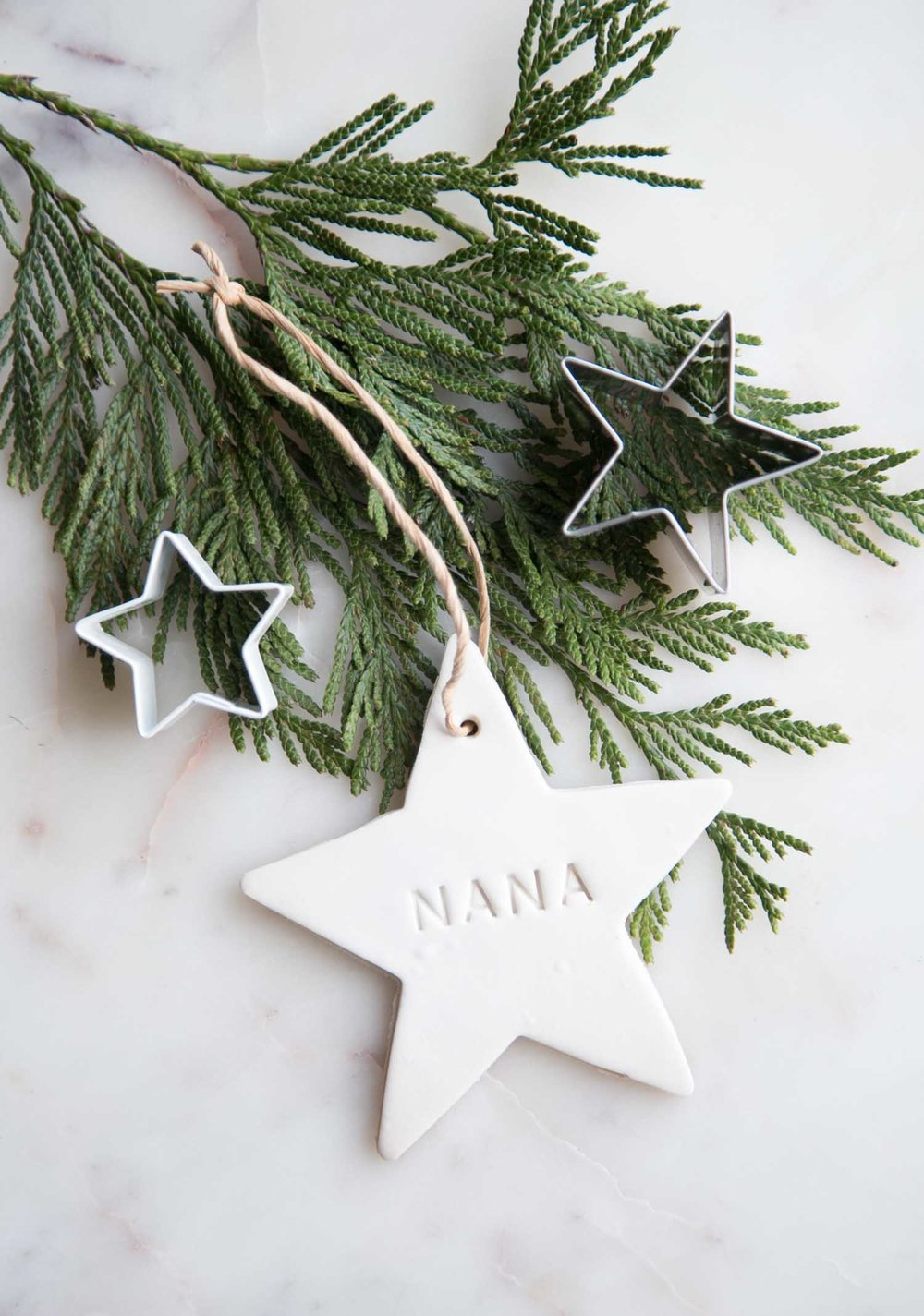 clay star ornament