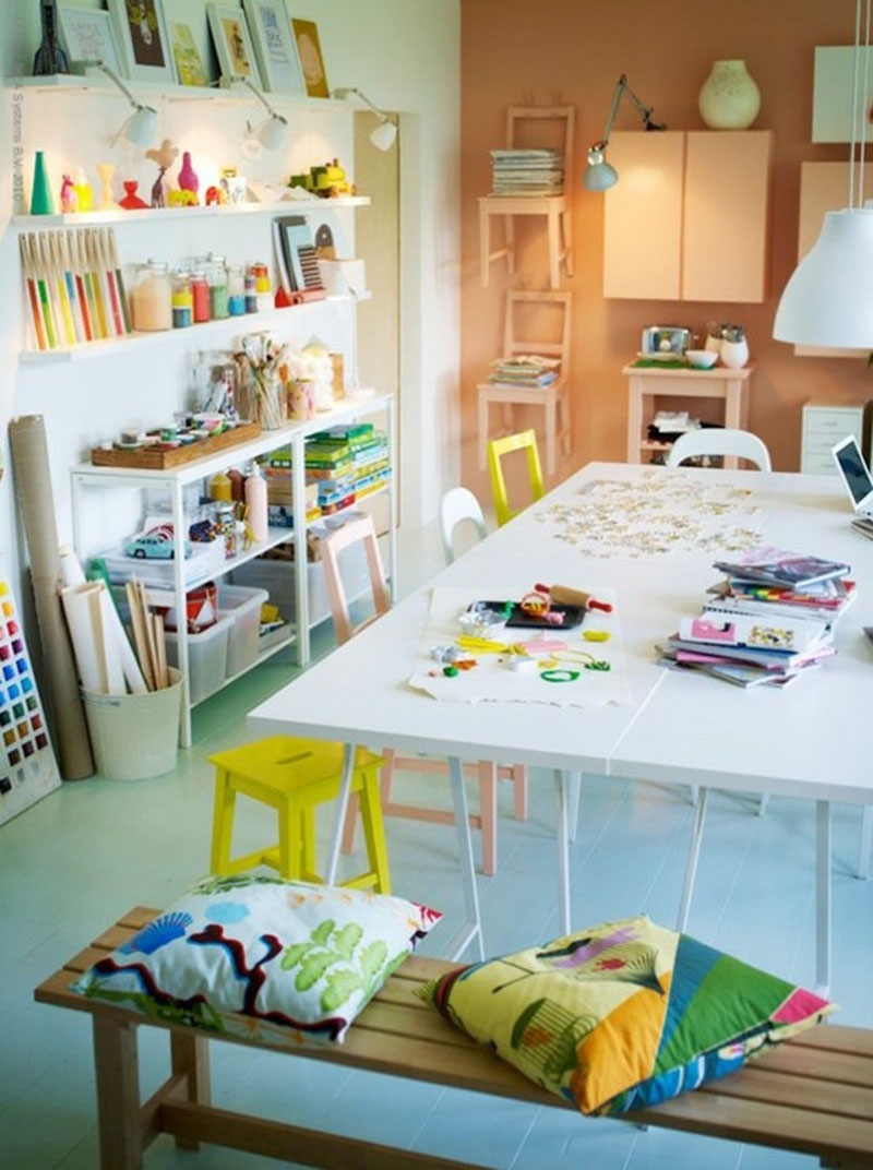 bright and light art room
