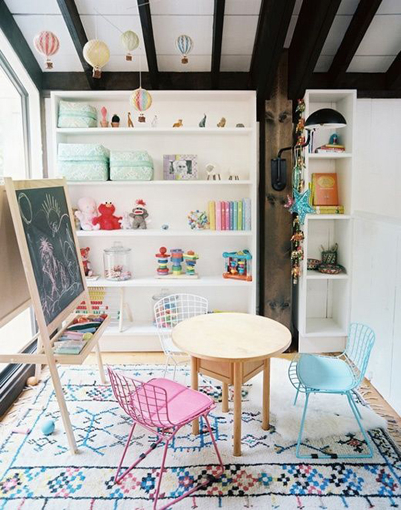modern kids art room