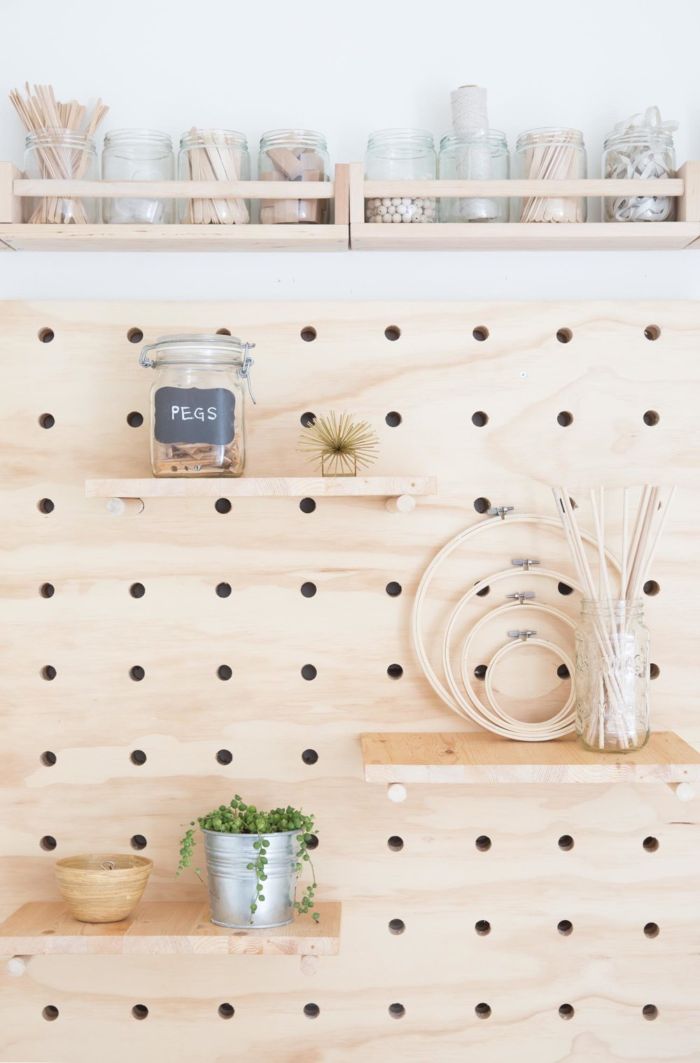 giant pegboard wall decor