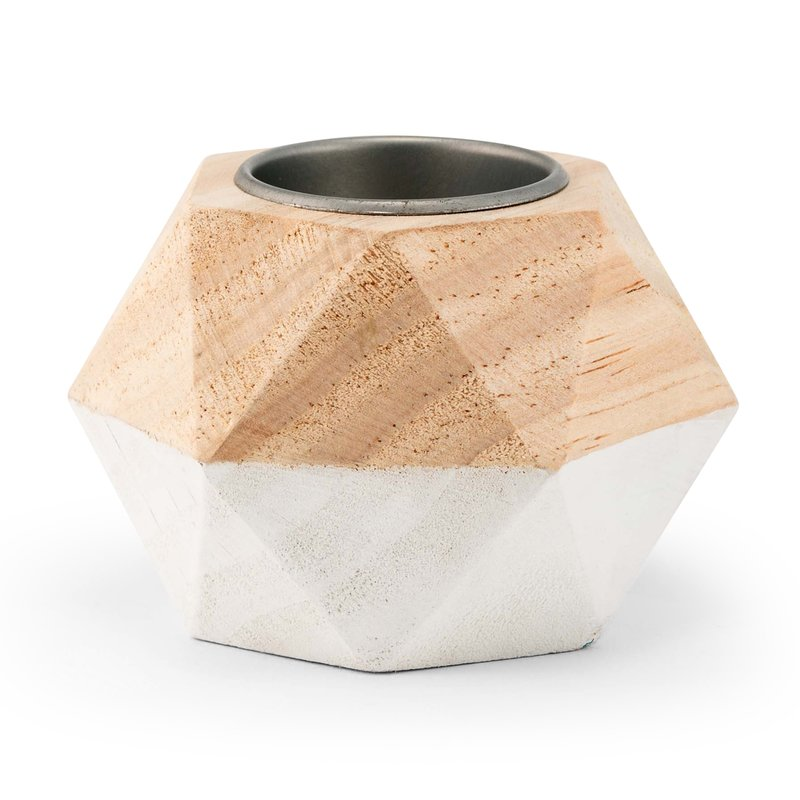 geo tealight holder