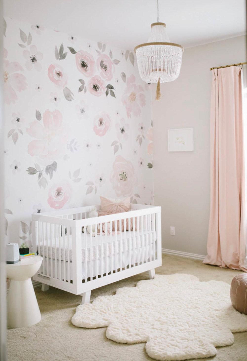 Lauren Benson pink baby girl nursery room