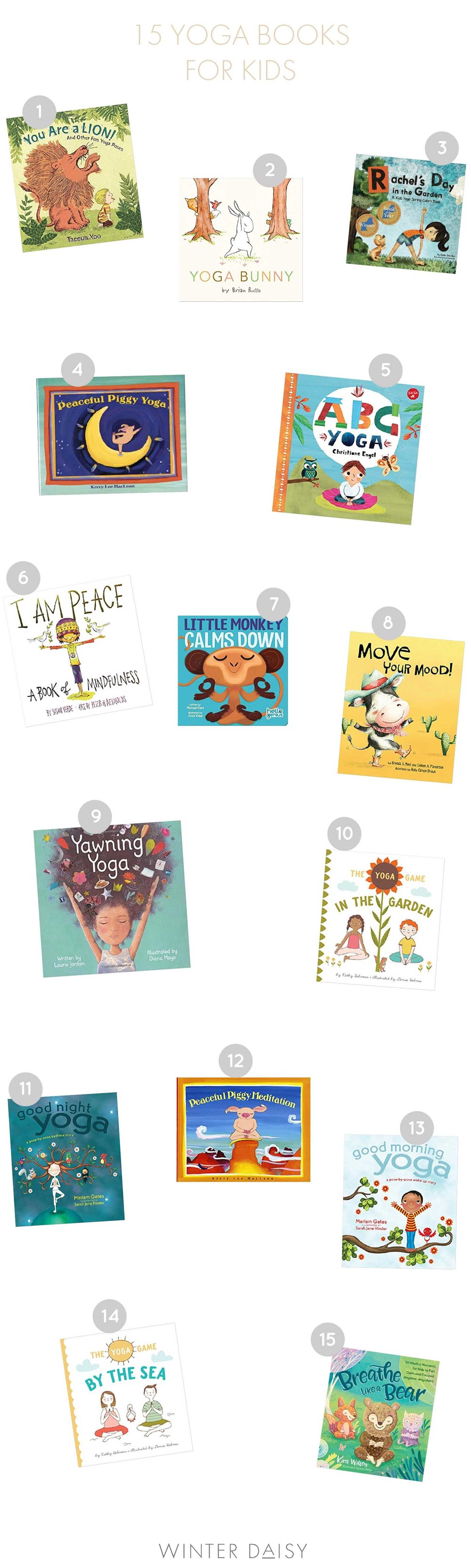 15 yoga books for kids
