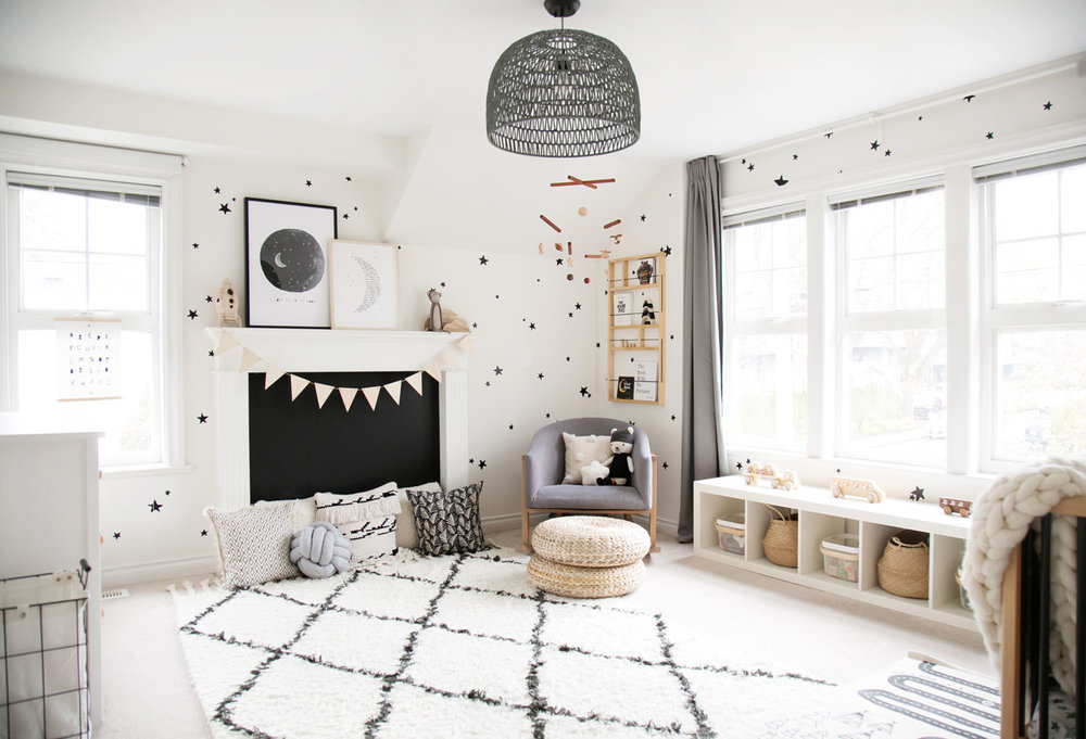 Monochrome boy room by Vancouver Interior Designer Melissa Barling