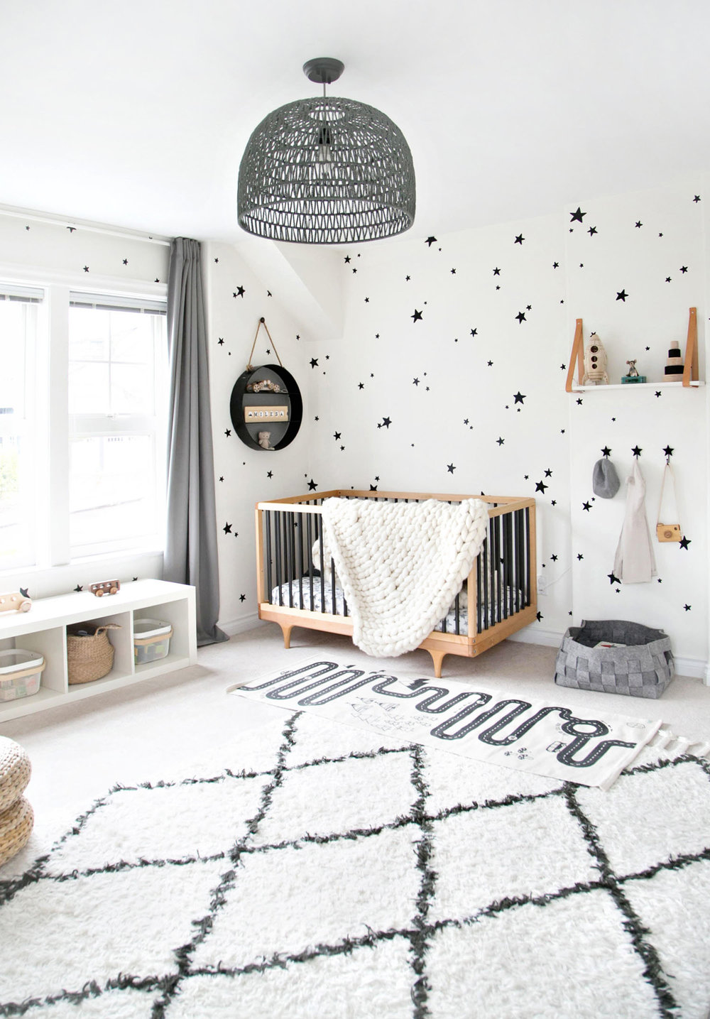 Boy room with Kalon Studios crib