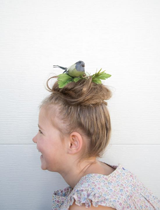 kids crazy hair day bird nest