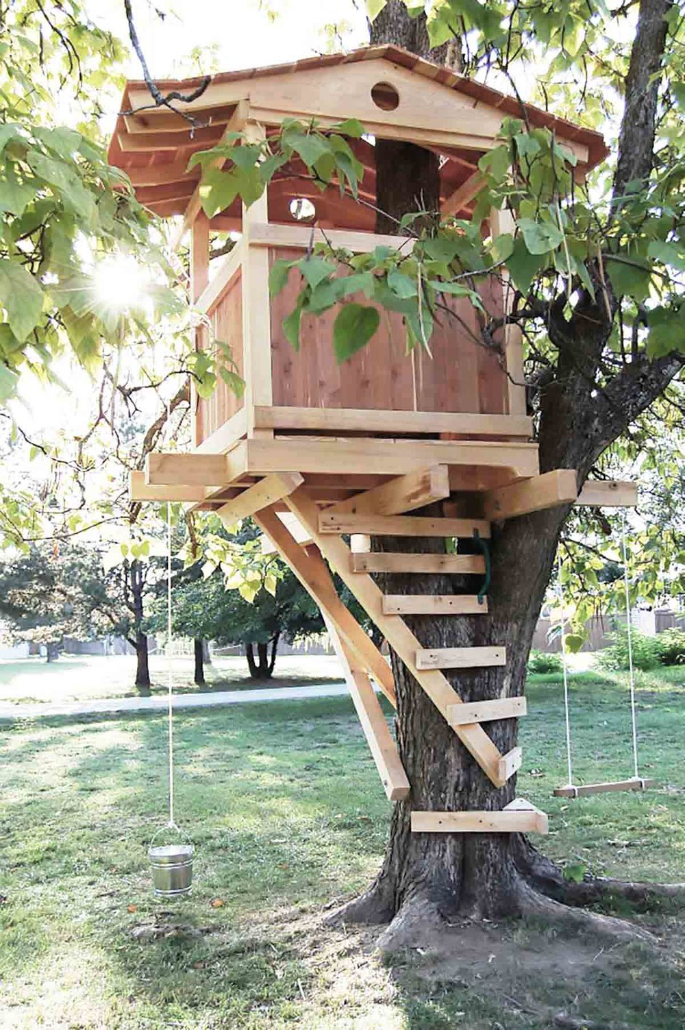 gorgeous backyard kids treehouse