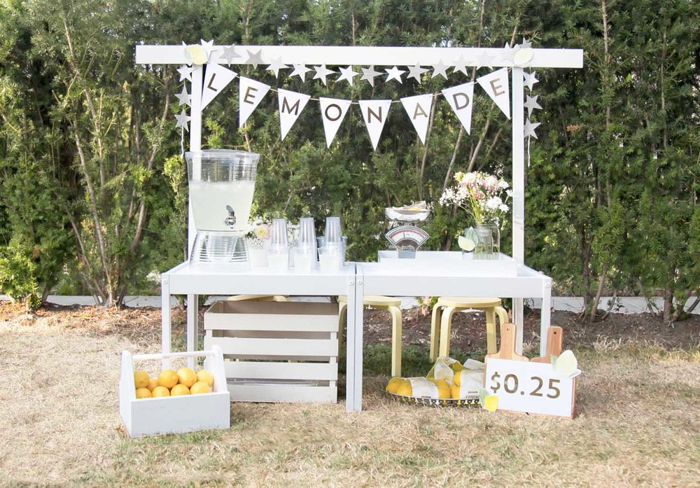 ikea table hack into kids lemonade stand