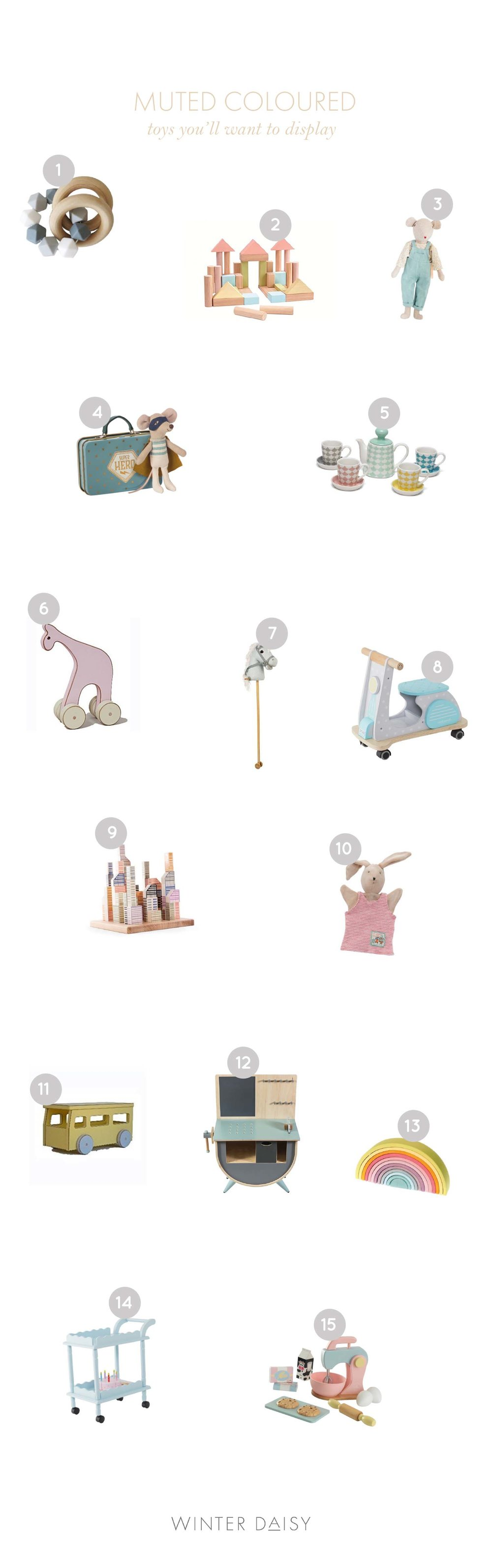 Pastel hued toys for kids