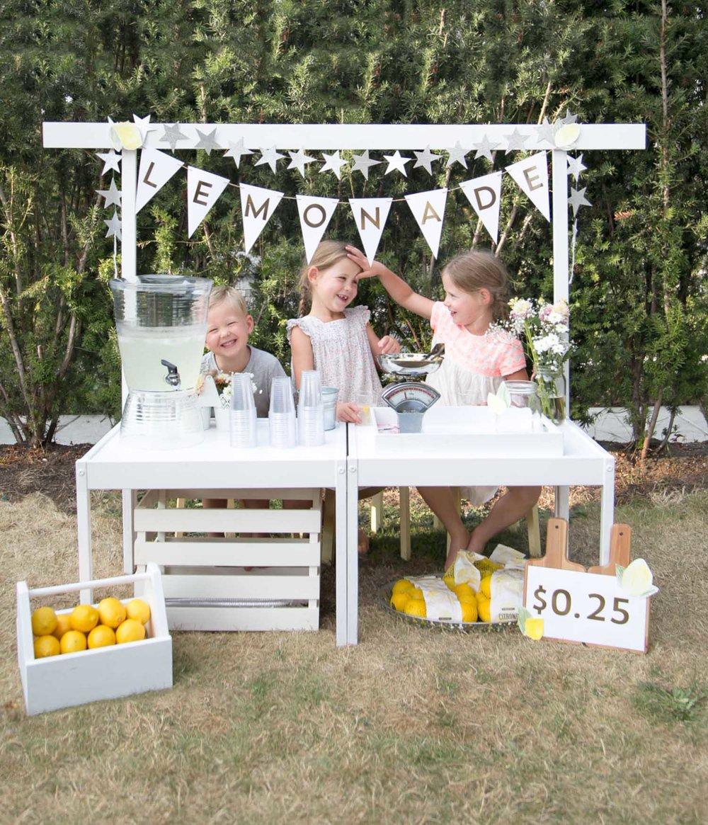 kids lemonade stand ikea hack