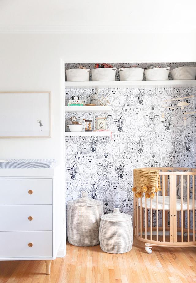 closet nursery nook