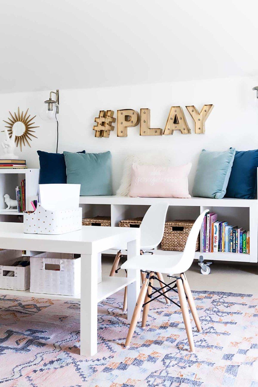 modern kids chair in playroom