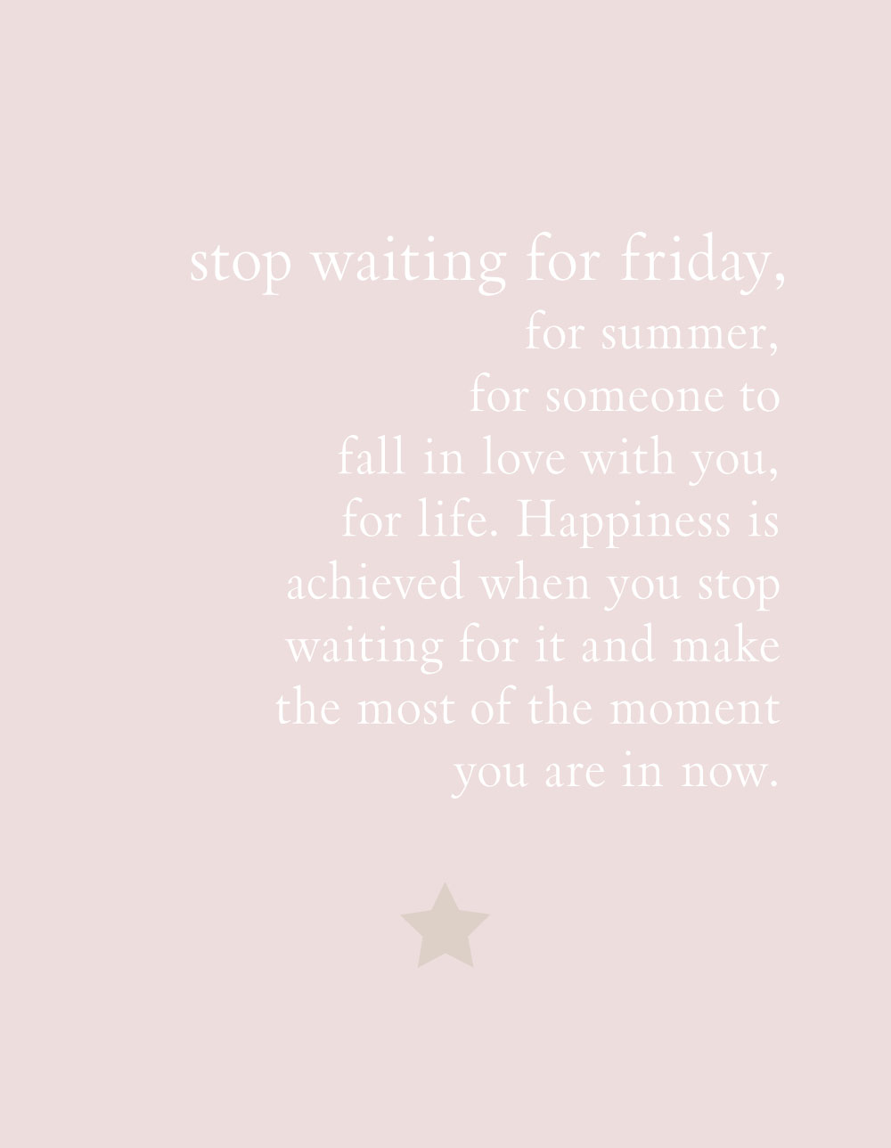 stop waiting quote