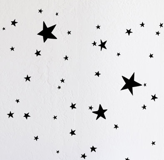 scattered stars decals by the Lovely Wall Company