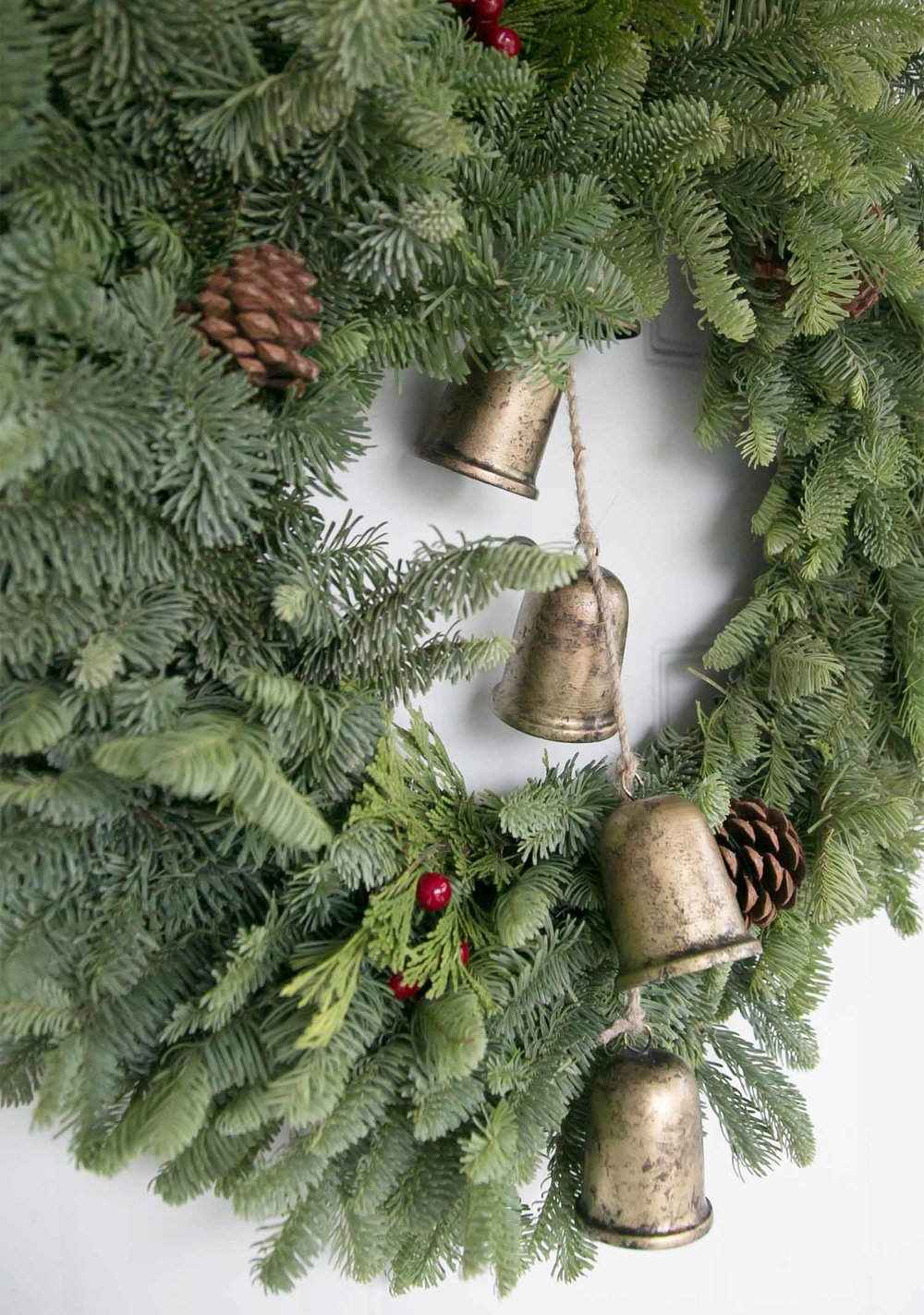 gold bells for front door wreath