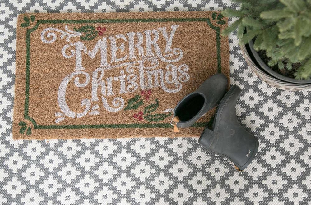 Merry Christmas doormat and entry rug