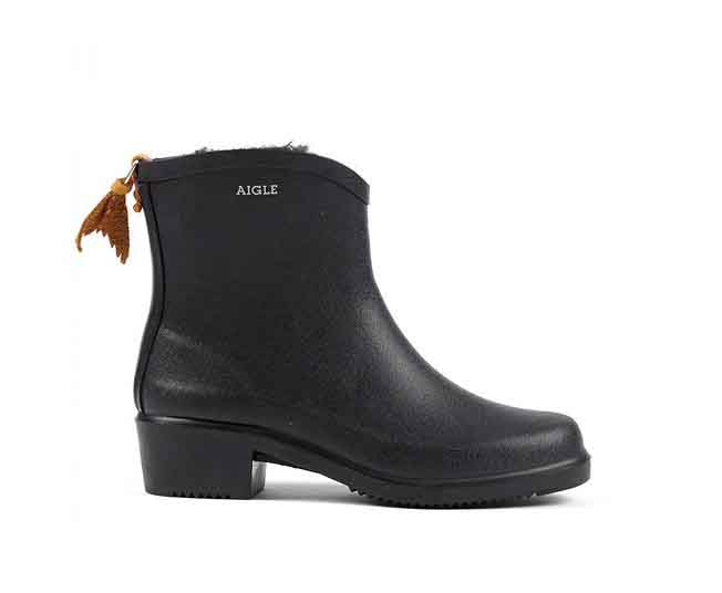 aigle fur lined booties