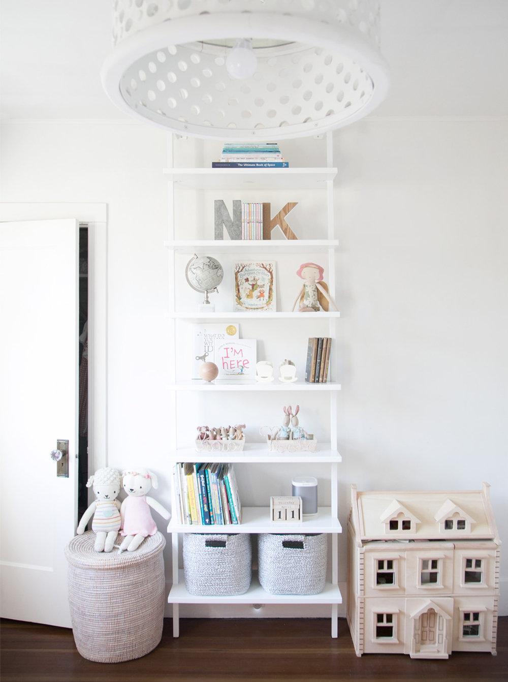 girls shelves