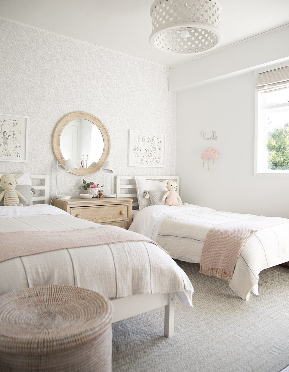 Rental House Our Twin Girls Shared Room Winter Daisy Melissa Barling Kids Interior Decorator Lifestyle Blogger