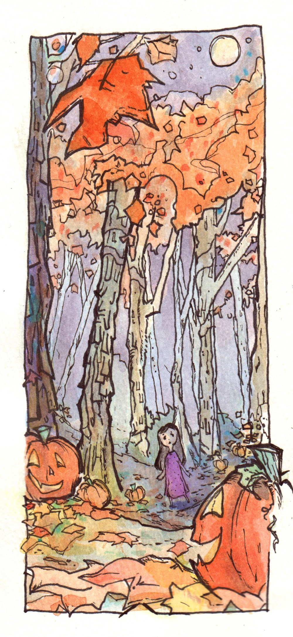 From Inktober 2015.  Used Prismacolor ink pens and watercolor.  You can see more under Sketchbook, or on my tumblr at http://stephanieburtner.tumblr.com/archive