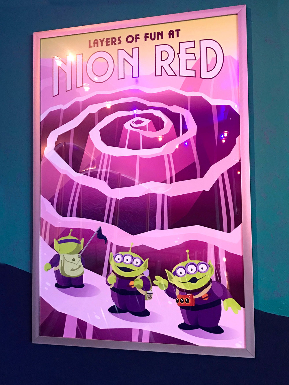 Pizza Planet Posters, Overlay for Pixar Fest, Disneyland, CA