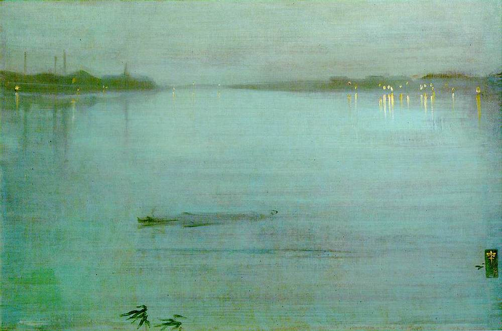 James McNeill  Whistler,  Nocturne: Blue and Silver - Cremorne Lights , 1872; oil on canvas