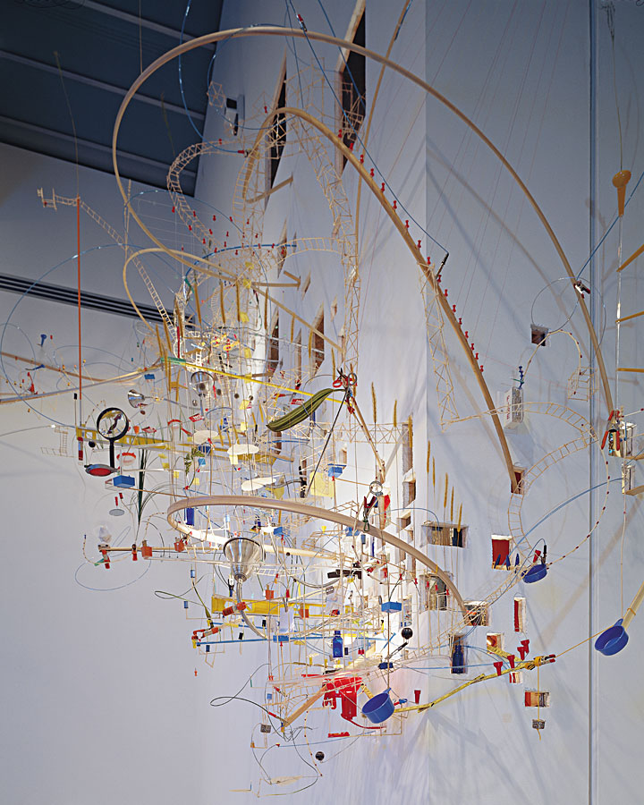 "Sze, S. (1999)  Seamless , installation view, ""The Carnegie International 1999–2000,"" Carnegie Museum of Art, Pittsburgh. Available at: https://art21.org/gallery/sarah-sze-artwork-survey-1990s/#5 (Accessed: 8 December 2017)."