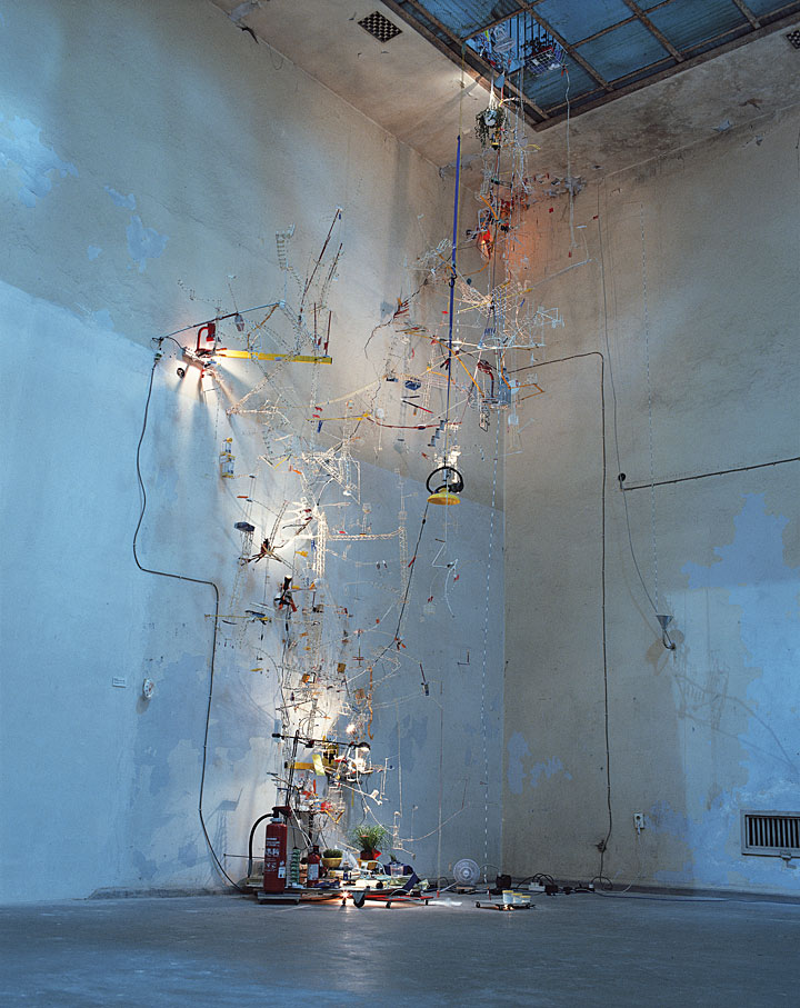 Sze, S. (1998)  Second Means of Egress,  Installation View, Berlin Biennial, Akademie der Kunste, Berlin. Available at: https://art21.org/gallery/sarah-sze-artwork-survey-1990s/#4 (Accessed: 9 December 2017).