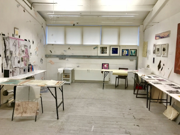Dartmouth Avenue MA Fine Art part time Year 1 studio. Image: Kelly M. O'Brien, 9 December 2017.