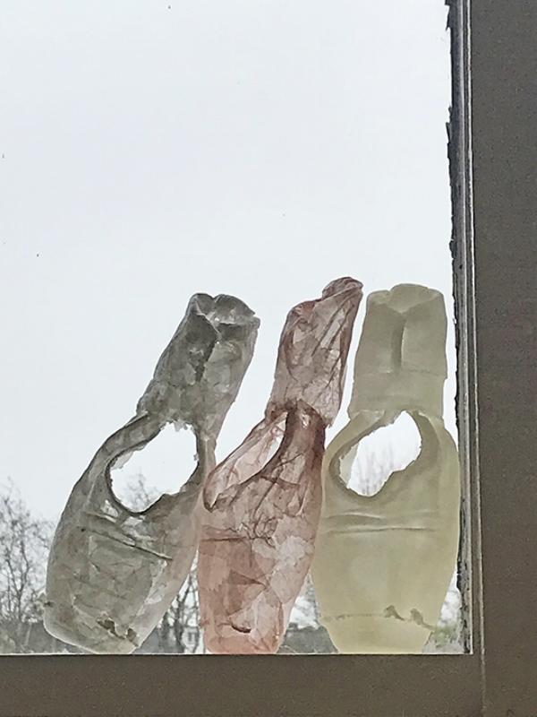 Kelly M. O'Brien,  Cherished Objects ( work in progress). Paper, PVA, wax. ©2018.