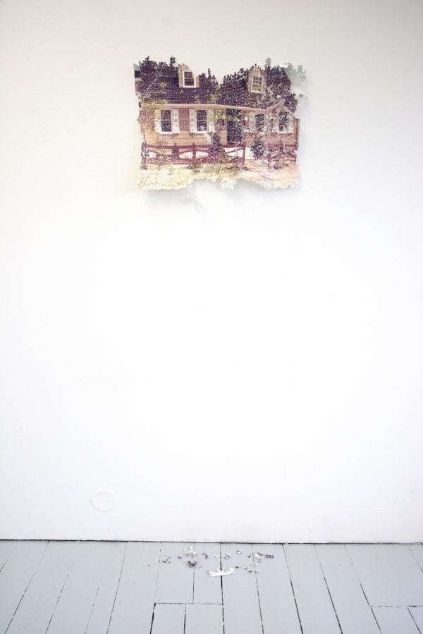 Kelly M. O'Brien,  Object (Im)permanence, Long Beach Island . Paper, thread. ©2018.