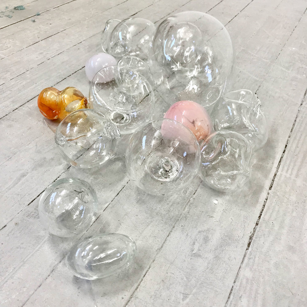 Kelly M. O'Brien, MFA studio work, glass studies. Bath Spa University. ©2018