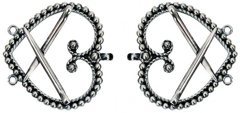 Spenner til påsying (oksidert) til sølvbelte