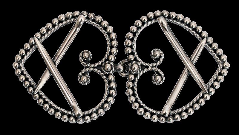 Spenner (oksidert) til sølvbelte