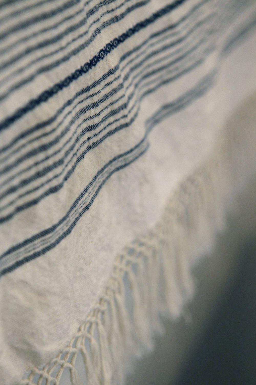 Woven Greek towel detail
