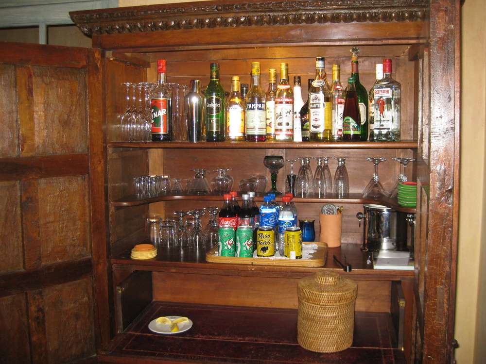 Drinks armoire in Argentine estancia