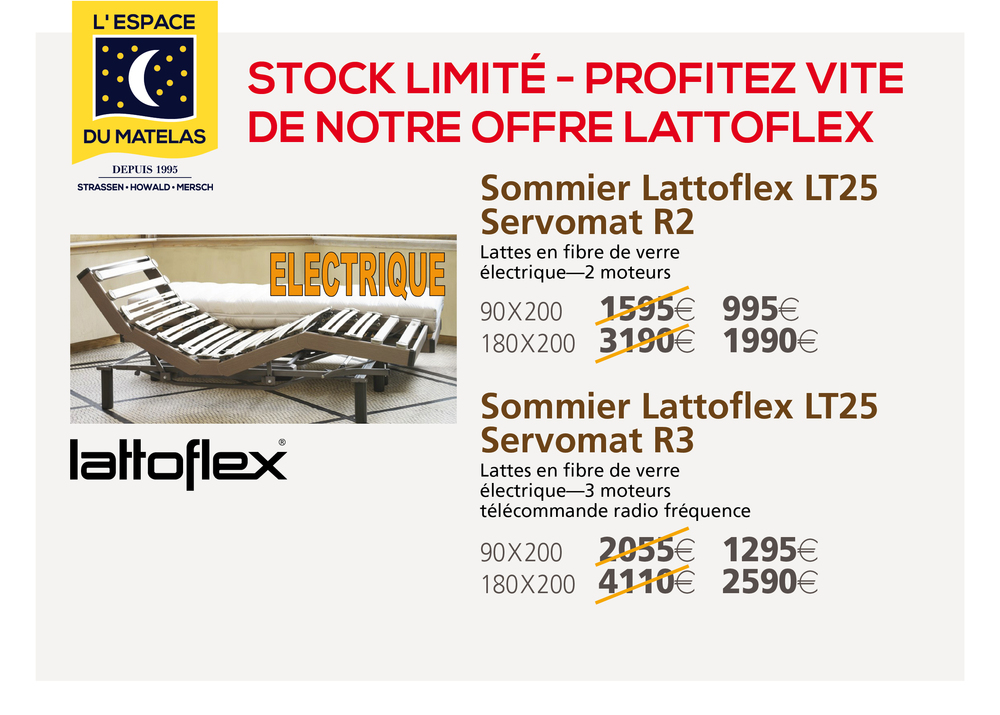 Découvrez nos offres Lattoflex - Stock limité