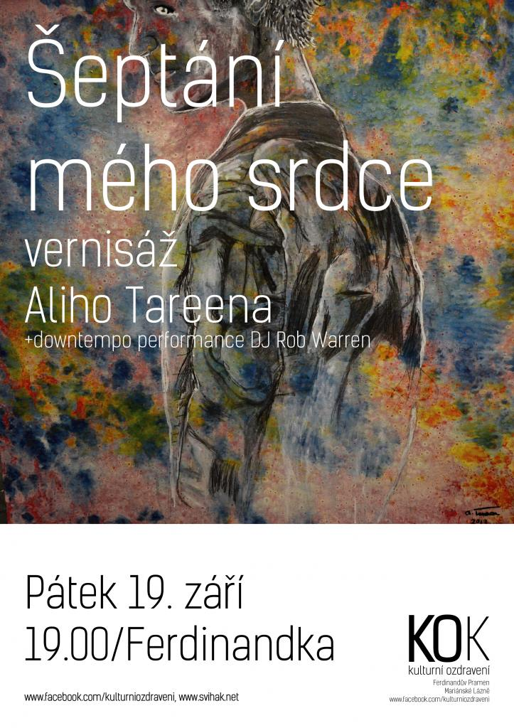"English Ali Tareen a visual artist from London, UK is going to exhibit a collection of mixed media paintings 'Whispers from my heart' at Pavilion Ferdinandova pramene in Mariánské Lázně. The exhibition investigates the notion based on power struggles in relationships between humans in the fast replacement and the fast information age. Did our great grand parents have a happier life with other people compared to us? Why are there more divorces than ever before? How has the fast information age affected our relationships? The age of the replacement can easily be spotted in Today's world throughout society. If something gets broken, instead of people trying to fix the problem, it often tends to replaced. If we look at things such as machines, clothes, labour, it has become the 'norm' to substitute it if we become dissatisfied with it. For this series, Tareen x-rayed his own experiences of intimacy and openly confesses in mixed media drawings. Each work transports you to various parts of the artist's mind and unleashes memories that were running riot. Tareen is a visual artist who has been living in Prague, The Czech Republic for over 5 years. He trained at Central Saint Martins, London, UK and currently works at Karlin Studios in Prague Czech Ali Tareen, výtvarník z Londýna, chystá výstavu sve sbírky obrazů ""Šepot mého srdce"" v pavilonu Ferdinandova pramene v Mariánských Lázních. Výstava zkoumá teorii založenou na mocenských bojích v mezilidských vztazích v dnešní zrychlené době a v době snadné náhrady. Ali Tareen je výtvarný umělec, který žije v Praze více než 5 let. Studoval na univerzitě Central Saint Martins v Londýně. V současné době vytváří v Karlin Studios v Praze. Měli naši prarodiče lepší vztahy s ostatními lidmi ve srovnání s námi? Proč je více rozvodů než v minulosti? Jak současná zrychlená doba ovlivňuje naše vztahy? Současná práce Ali Tareena se zabývá snadnou náhradou. Nyni lze snadno nahradit vše. A vidíme to v celé společnosti. Rozbije-li se něco, místo toho, abychom se to snažili spravit, radeji to vyměňíme za nové. Podíváme-li se na věci, jako jsou stroje, oblečení, stalo se ""normou"" nahradit vše, co už nás neuspokojuje. V této sbírce, Tareen promítá vlastní zkušenosti intimity a otevřeně se zpovídá ve svých kresbách. Každá práce vás přenese do odlišné části umělcovy mysli a odkazuje na neutichající vzpomínky. http://www.svihak.net/ https://www.facebook.com/PechaKuchaML?fref=nf https://www.facebook.com/kulturniozdraveni?fref=ts http://www.alitareen.com/"