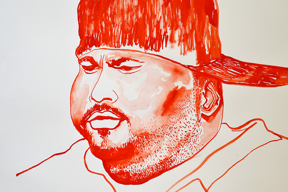 `Big Pun', 29.7 x 42.0cm, watercolour on 230g akvarel paper, 2017