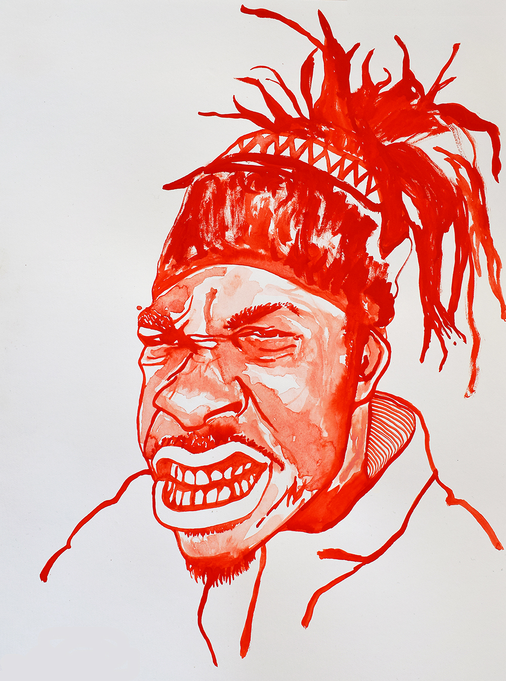`Busta Rhymes', 29.7 x 42.0cm, watercolour on 230g akvarel paper, 2017