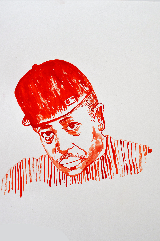 `DJ Premier', 29.7 x 42.0cm, watercolour on 230g akvarel paper, 2018