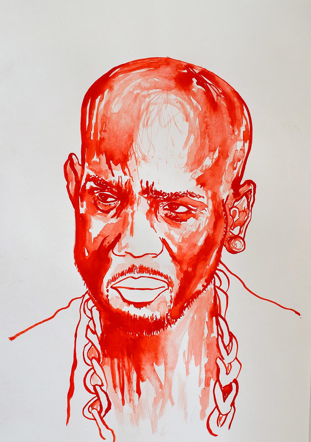 `DMX', 29.7 x 42.0cm, watercolour on 230g akvarel paper, 2017