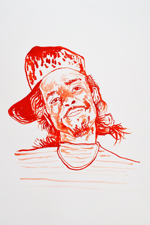 `Ice T', 29.7 x 42.0cm, watercolour on 230g akvarel paper, 2017