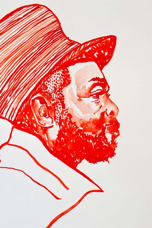 `Jeru the Damaja ', 29.7 x 42.0cm, watercolour on 230g akvarel paper, 2018