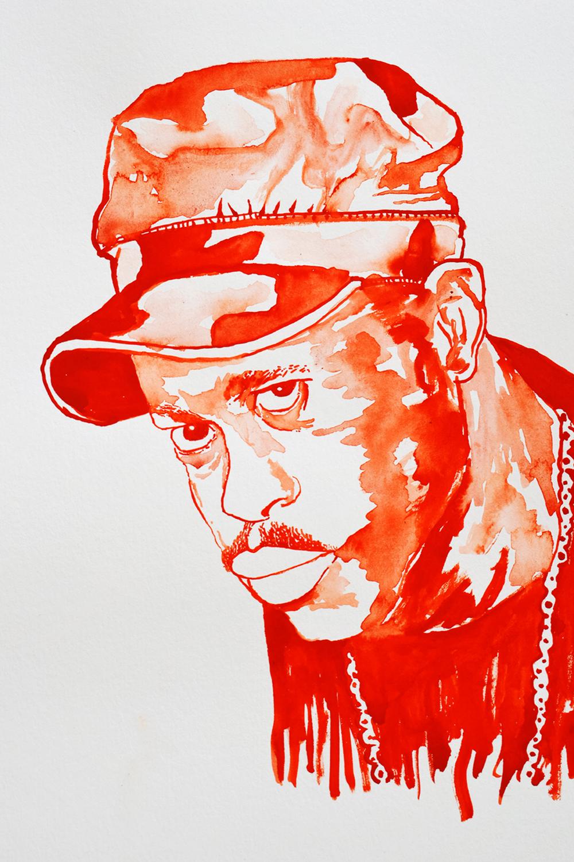 `Guru (of Gangstar)', 29.7 x 42.0cm, watercolour on 230g akvarel paper, 2018